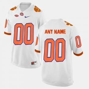 #00 Clemson Customized Jersey Men College Limited Football White 479313-408