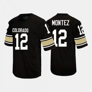 #12 Black College Football Steven Montez Colorado Jersey Men's 249145-179