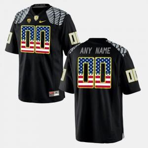 Men's US Flag Fashion #00 Oregon Custom Jersey Black 386677-197