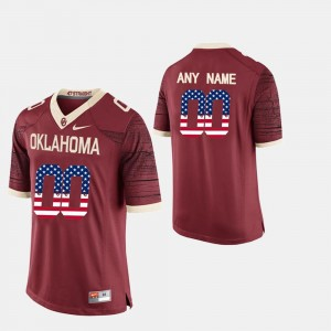 #00 US Flag Fashion OU Customized Jersey Crimson For Men's 202063-945