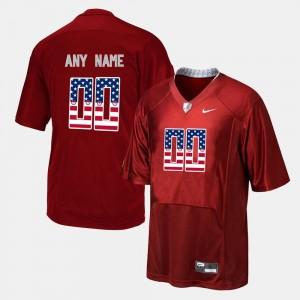 #00 Alabama Customized Jerseys For Men Red US Flag Fashion 543677-876
