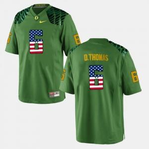 #6 Men's De'Anthony Thomas Oregon Jersey Green US Flag Fashion 700228-548