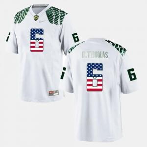 #6 Mens De'Anthony Thomas Oregon Jersey White US Flag Fashion 624132-227