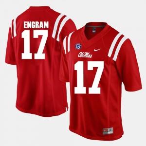 #17 For Men Red Alumni Football Game Evan Engram Ole Miss Jersey 954514-388