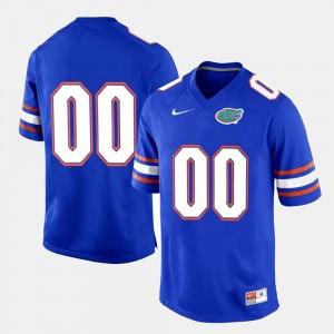 Royal Blue #00 Gators Custom Jerseys College Limited Football For Men 525437-573