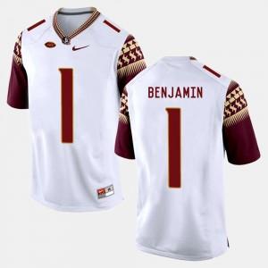 Men's College Football BKelvin Benjamin FSU Jersey #1 White 409711-316