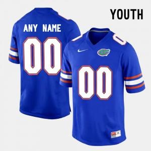 Blue College Limited Football FSU Custom Jerseys #00 Youth 301774-991