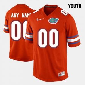 Orange #00 FSU Customized Jersey Kids College Limited Football 647234-701