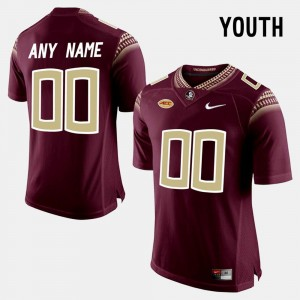 FSU Customized Jersey #00 College Limited Football Youth(Kids) Red 241622-805