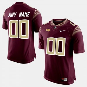 FSU Customized Jersey College Limited Football #00 Red Mens 215093-426