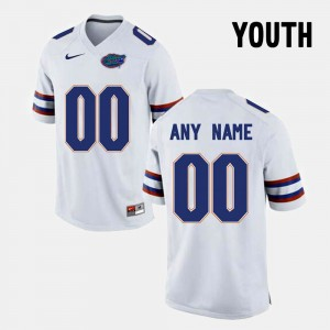 Youth(Kids) White FSU Customized Jersey #00 College Limited Football 271299-561