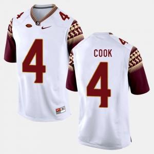 White #4 Men College Football Dalvin Cook FSU Jersey 998978-427