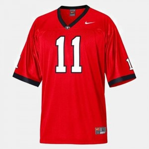 Aaron Murray UGA Jersey #11 Red College Football Men's 542071-562