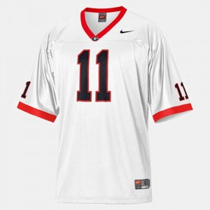 White For Kids College Football #11 Aaron Murray UGA Jersey 531020-500