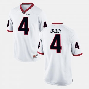 For Men Champ Bailey UGA Jersey Alumni Football Game #4 White 423971-430