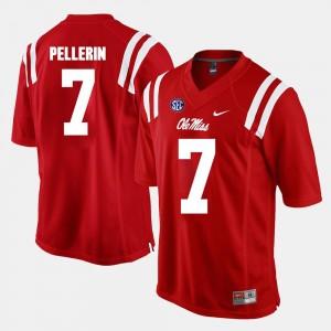 Men's Alumni Football Game #7 Red Jason Pellerin Ole Miss Jersey 607860-826