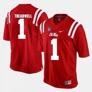 Men #1 Laquon Treadwell Ole Miss Jersey Red Alumni Football Game 167705-380