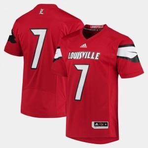 Red Men's Louisville Jersey #7 2017 Special Games 215991-512