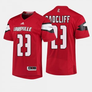 For Men's College Football #23 Red Brandon Radcliff Louisville Jersey 722647-873
