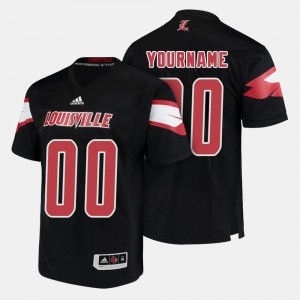 Louisville Customized Jerseys College Football #00 For Men's Black 180785-557