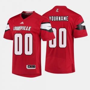 Louisville Customized Jerseys College Football Red Men #00 970398-309