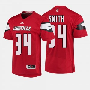 College Football Jeremy Smith Louisville Jersey For Men #34 Red 746762-324