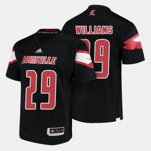 College Football #29 Black Men Malik Williams Louisville Jersey 782152-953