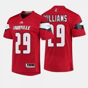 Malik Williams Louisville Jersey Red Men's #29 College Football 420306-642