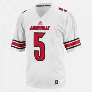 For Men's Teddy Bridgewater Louisville Jersey White #5 College Football 113815-941