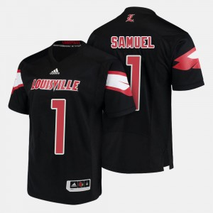 #1 Traveon Samuel Louisville Jersey For Men Black College Football 988079-797