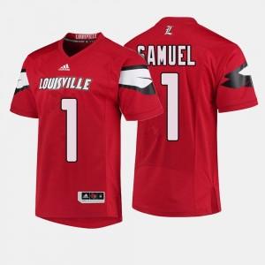 College Football Traveon Samuel Louisville Jersey #1 Mens Red 544394-652