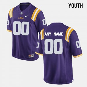 LSU Customized Jerseys #00 Purple College Limited Football For Kids 669652-435