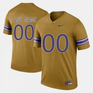 #00 Men Throwback Gridiron Gold LSU Custom Jerseys 141909-642