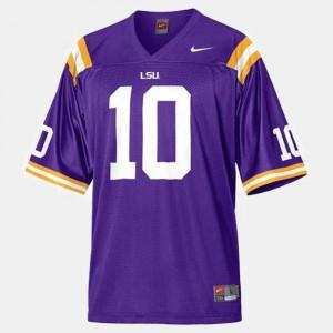 Purple Youth(Kids) Joseph Addai LSU Jersey #10 College Football 548531-776