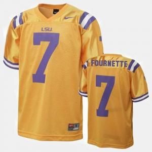 #7 Leonard Fournette LSU Jersey For Kids College Football Gold 171247-697
