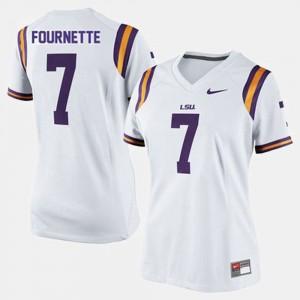 Ladies White Leonard Fournette LSU Jersey #7 College Football 927105-401