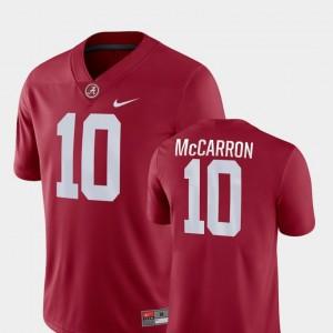 #10 Crimson For Men Game College Football AJ McCarron Alabama Jersey 433729-783