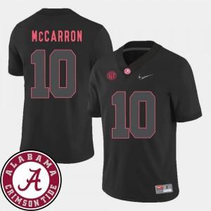 AJ McCarron Alabama Jersey #10 For Men 2018 SEC Patch Black College Football 204696-880