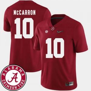 2018 SEC Patch Crimson #10 AJ McCarron Alabama Jersey For Men's College Football 902029-314