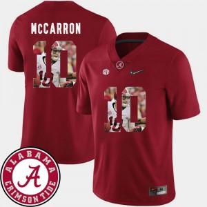 Men Crimson Pictorial Fashion Football AJ McCarron Alabama Jersey #10 704082-902