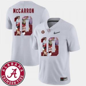 Pictorial Fashion #10 White Men's Football AJ McCarron Alabama Jersey 401066-707