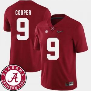 College Football Mens 2018 SEC Patch #9 Crimson Amari Cooper Alabama Jersey 609003-701