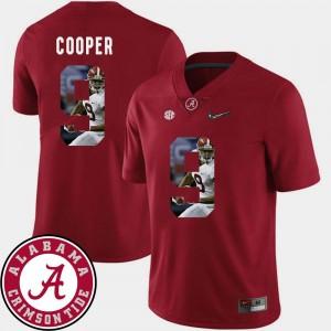 #9 Football Amari Cooper Alabama Jersey For Men's Pictorial Fashion Crimson 186475-916