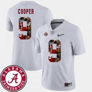 Amari Cooper Alabama Jersey Pictorial Fashion #9 Men Football White 483647-704