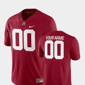 Alabama Customized Jersey #00 College Football Crimson 2018 Game For Men 193474-119