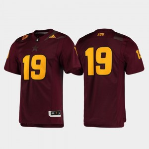 Mens Football Premier ASU Jersey Maroon #19 923948-510