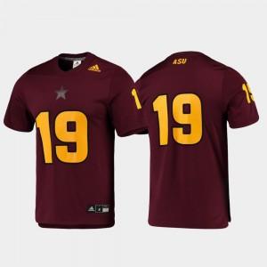 Maroon #19 Football Men ASU Jersey Replica 888962-777