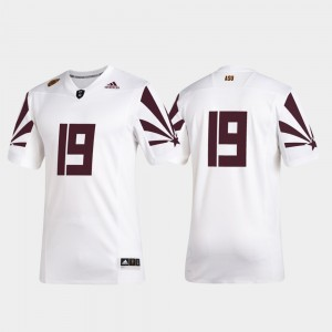 White #19 For Men ASU Jersey Premier Football 2019 Special Game 193848-360
