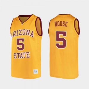 College Basketball Alumni Gold #5 Eddie House ASU Jersey For Men's 504850-806