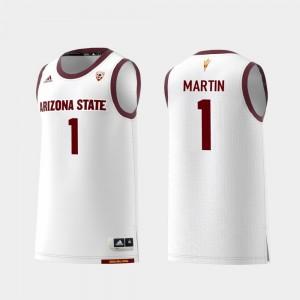 Remy Martin ASU Jersey Replica White #1 College Basketball For Men's 935576-360